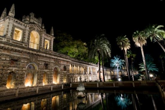 Noche en los Jardines del Real Alcázar con Murillo yRabassa